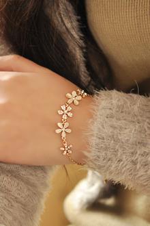 时尚石花朵气质手链